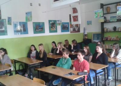 Zajęcia edukacyjne w Zespole Szkół Ogólnokształcących w Hajnówce