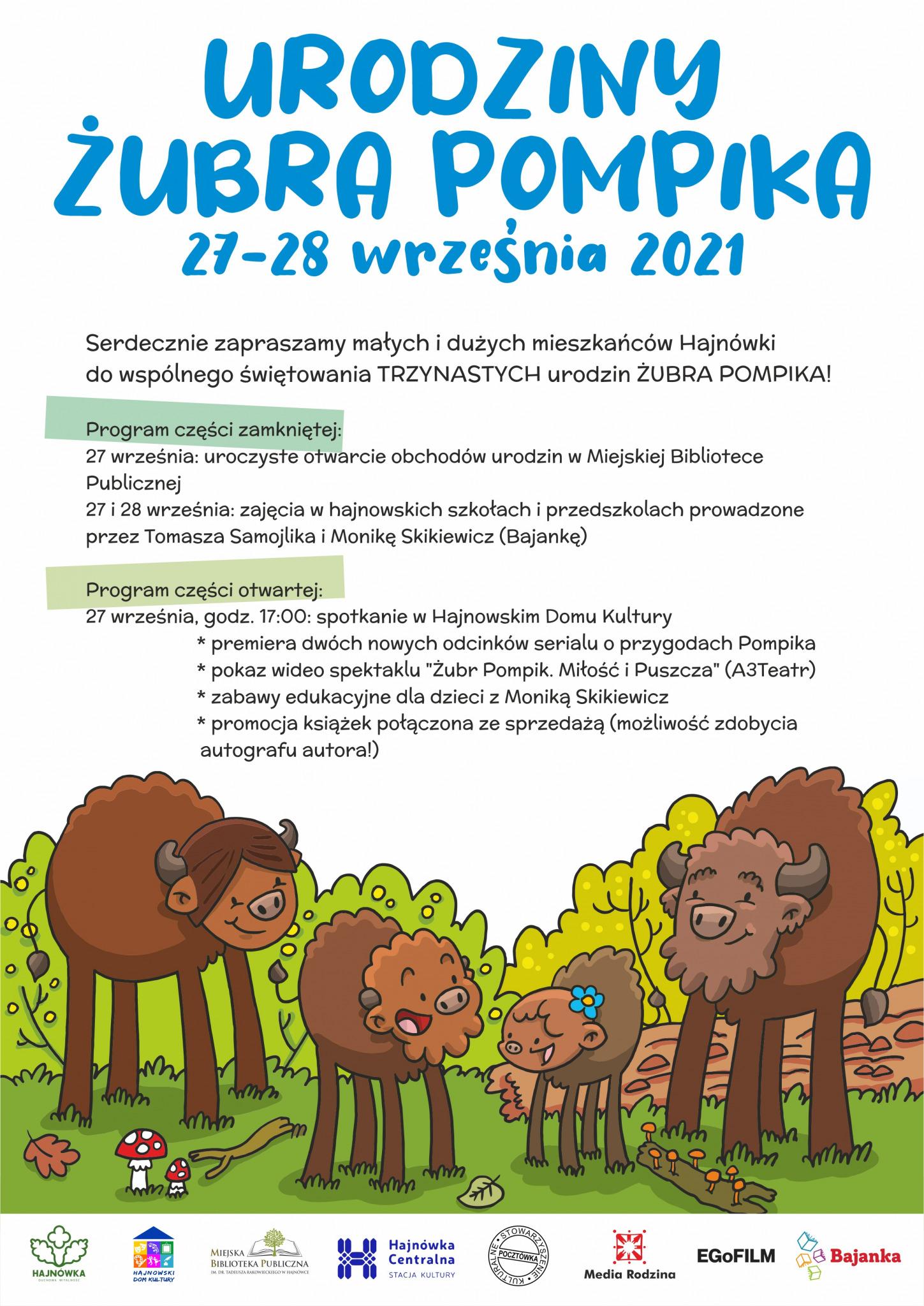 afisz z programem wydarzenia